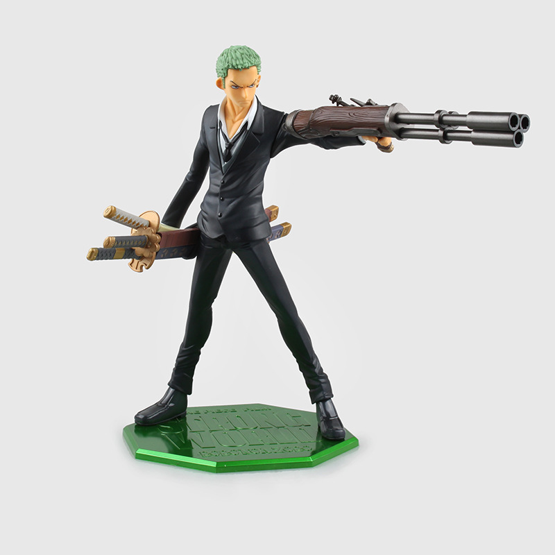 One Piece Figure POP Roronoa Zoro 210mm PVC Cartoon Figurine Toys Juguetes