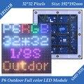 5500CD/m2 Outdoor 1/8 Сканирования SMD3535 3in1 полноцветная P6 СВЕТОДИОДНЫЙ дисплей модуль 192*192 мм 32*32 пикселей