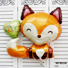 Free shipping 1pcs/lot Welcome Baby Fox Balloon Foil Balloon Baby Shower Anagram Balloons birthday party decoration made in USA