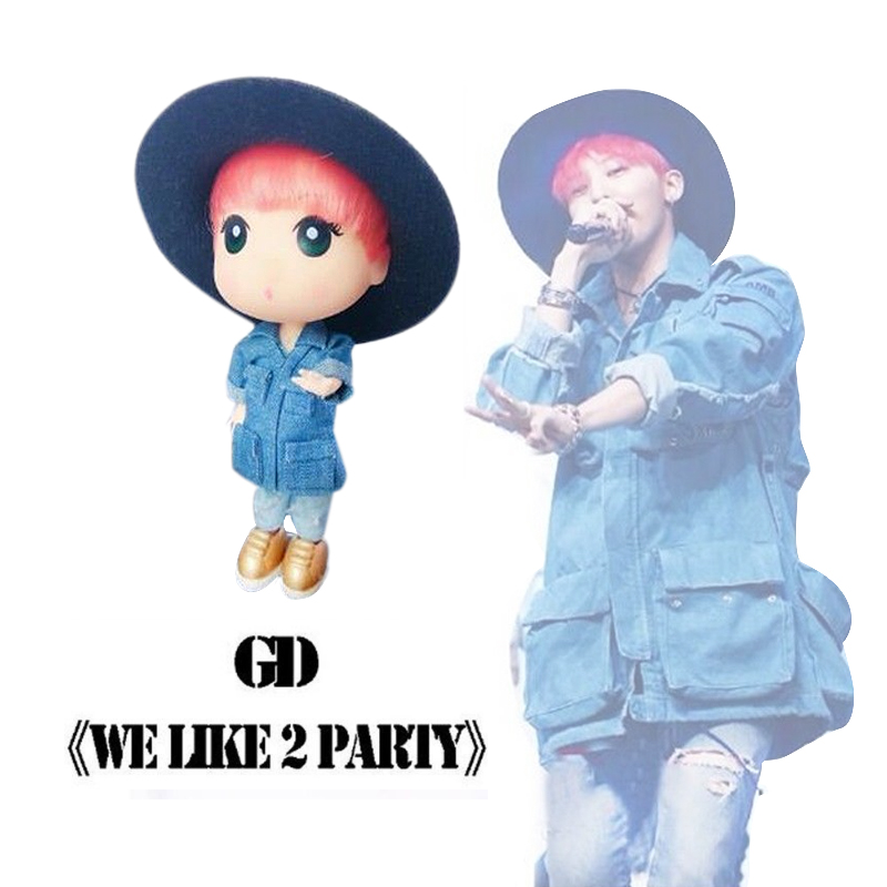 KPOP G-Dragon BigBang We Like II Party GD Limited Figure Doll 13cm/5 Toy Display Gift new kpop bigbang gd gdragon the same gd is back peaceminusone seoul hand bag