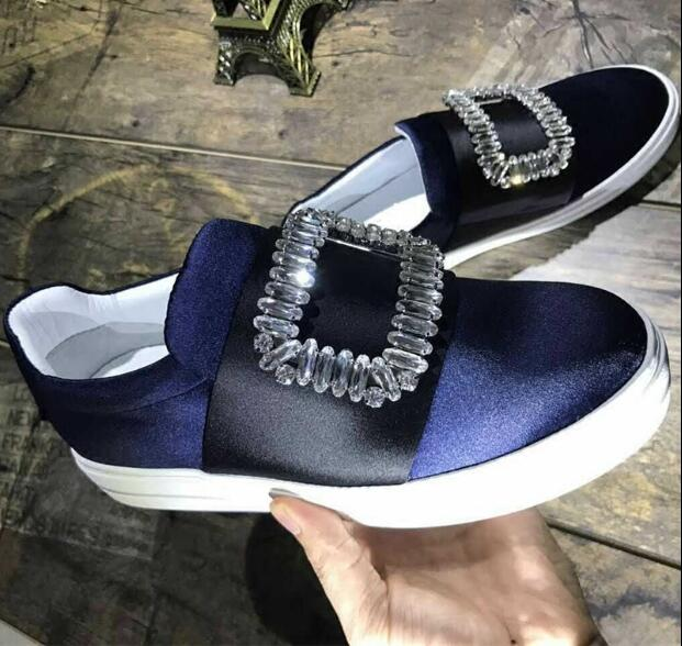 New arrival women loafers slip on casual shoes crystal decoration women Autumn flats high quality fashion shoes women size 35-40 new arrival low price mens breathable high quality casual shoes suede canvas casual shoes slip on men fashion flats loafers