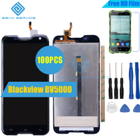 100pcs For Blackview BV5000 LCD Lcds Display Touch Screen 100 Original Screen Digitizer Assembly Replacement Tools