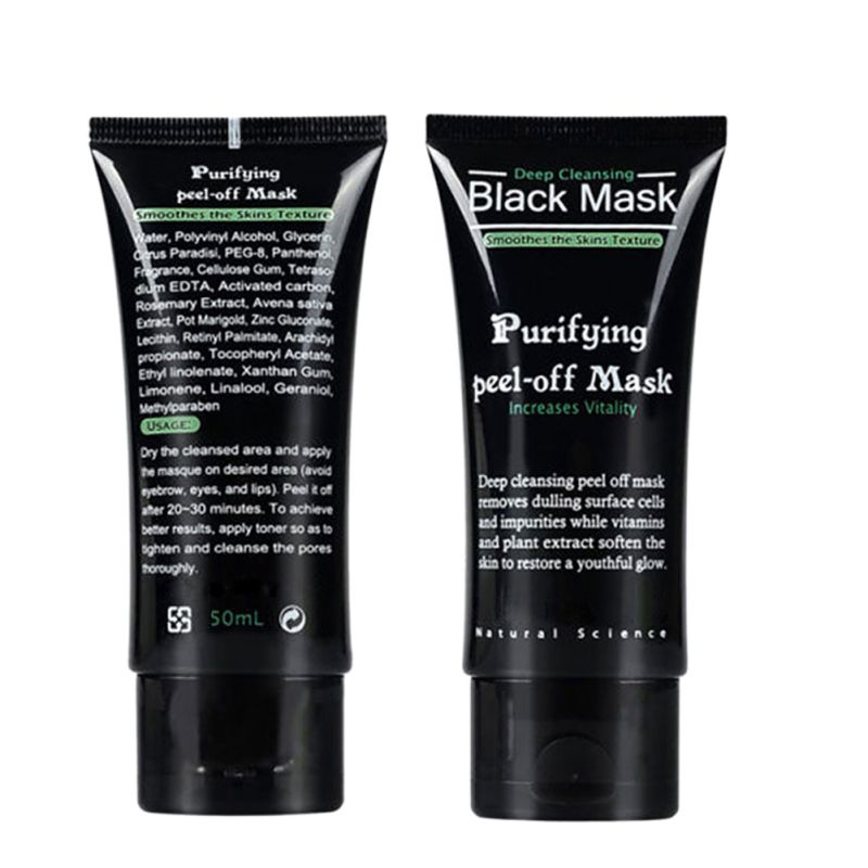 50ml Blackhead Remover Facial Masks Deep Cleansing Purifying Peel Off Acne Black Mud Face Mask