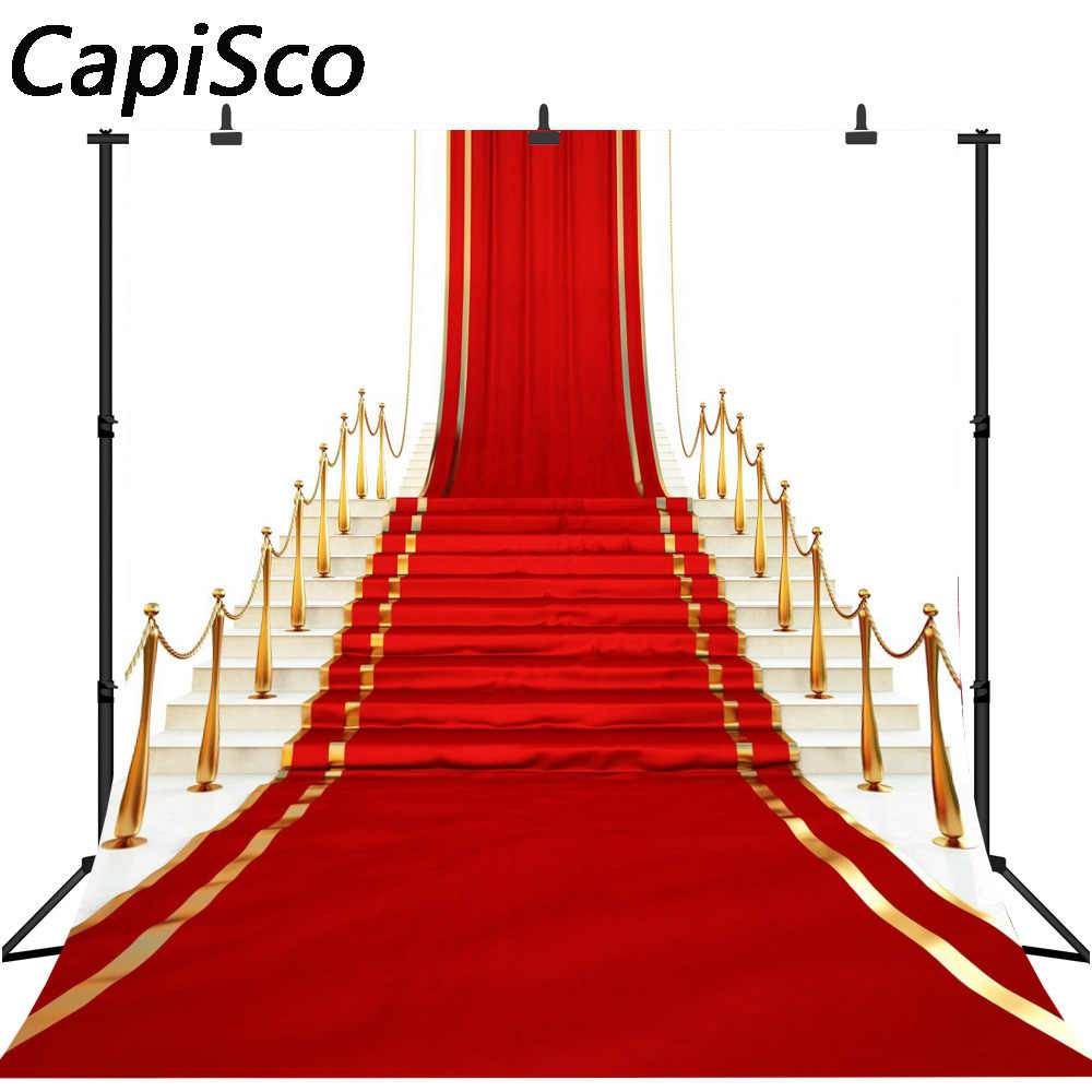 Capisco Photography Backdrop Red Carpet Stage Gold Rope Vip Luxury Party Birthday Photo Studio Background Photo Prop Aliexpress
