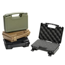 Brand New High quality Tactical Hard Pistol Case Gun Padded Foam Lining for hunting airsoft