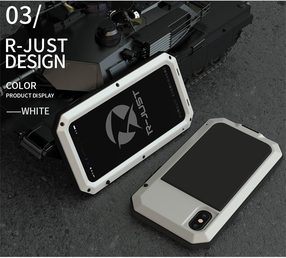 HTB1Vj5FeKuSBuNjSsziq6zq8pXad Heavy Duty Protection Doom armor Metal Aluminum phone Case for iPhone 11 Pro Max XR XS MAX 6 6S 7 8 Plus X 5S 5 Shockproof Cover