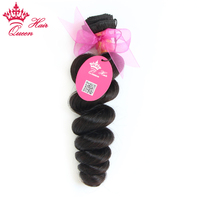 Queen Hair Products Brazilian Loose Wave Remy Hair Bundles 100 Human Hair Weave