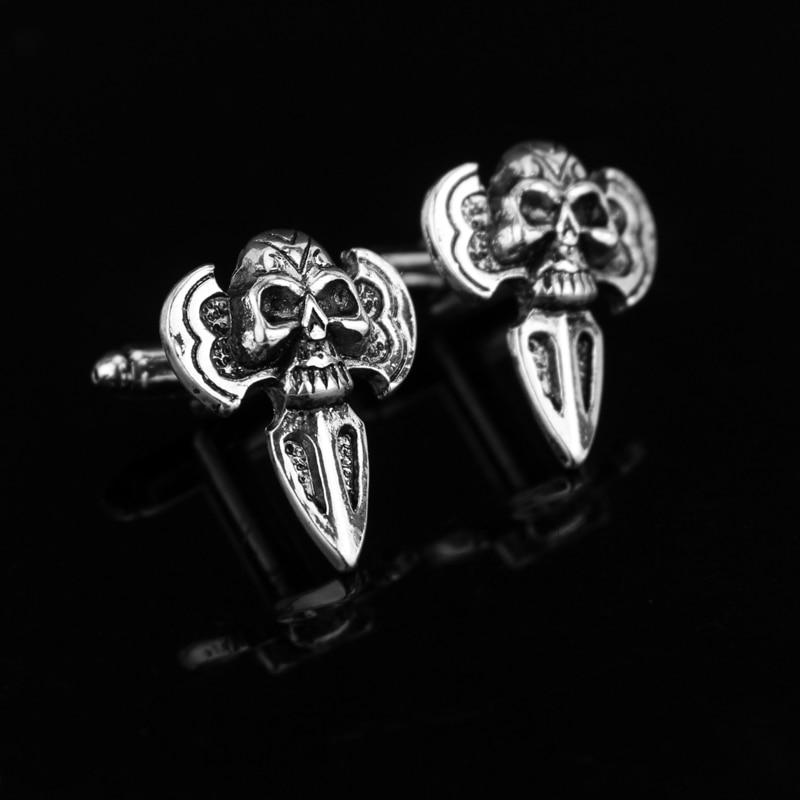 dongsheng Street Punk Style Skull Heads Metal Cufflinks Anime One piece Caribbean Skull Cuff Links For Men Wedding Jewelry-40