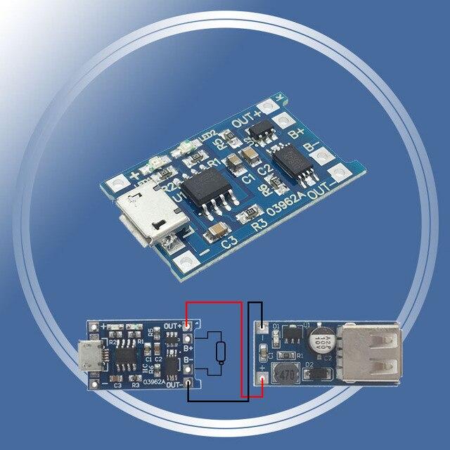 5 pièces 5 V 1A Micro USB 18650 Batterie au Lithium Carte De Recharge Chargeur Module + Protection Double Fonctions TP4056 TC4056 TC4056A