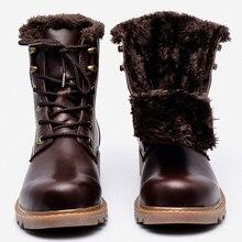 2016 men winter boots plus size top quality cow split motorcycle retro leather men shoes #LS008