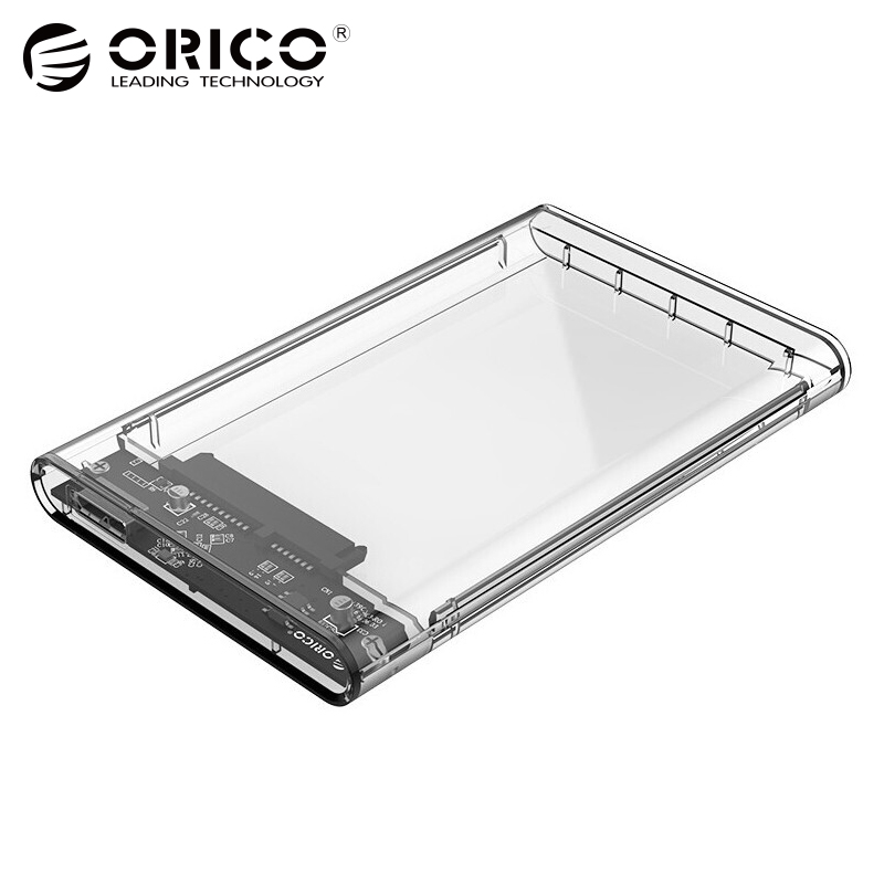 ORICO Transparent Gray HDD Enclosure SATA to USB 3.0 HDD Case Eco ABS hdd case 2.5 usb 3.0 interface for Hard Disk Drive ugreen hdd enclosure sata to usb 3 0 hdd case tool free for 7 9 5mm 2 5 inch sata ssd up to 6tb hard disk box external hdd case