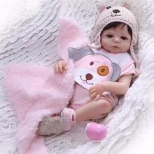 48cm Baby Girl Reborn Doll Vinyl Toy Realistic lucy Princess Full Silicone Reborn Baby boneca bebe gift reborn Birthday XMAS toy
