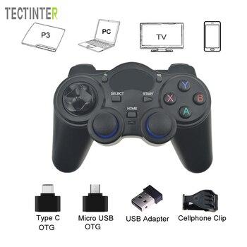 Для PS3 Android ТВ Box PC 2,4 ГГц Беспроводной джойстик игровой контроллер GPD XD с OTG конвертер компьютерный джойстик Джойстик