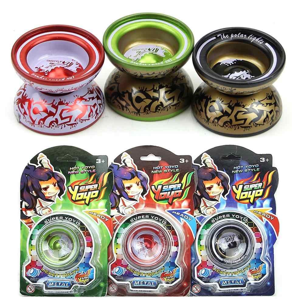 Aleación de aluminio, YoYo, rodamiento de bolas, cuerda para niños, juguete de juego profesional