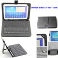 "9.7""-10.1"" Tablet PC keyboard Leather Case Cover For Samsung Galaxy Tab N8000 Tab 2 Tab 3  Note 10.1 With Usb Wired"