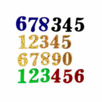 3D Acrylic number labels stickers Door Address Digits Sticker house number plate sign 0-9 for Apartment Villa Hotel