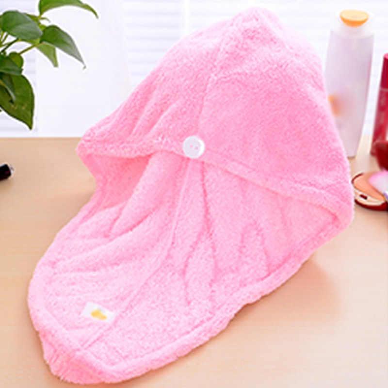 レディースヘア乾燥タオルサンゴのベルベットのメイク化粧品キャップレディーガールクイックドライバスヘッドラップ帽子お風呂ツール 669