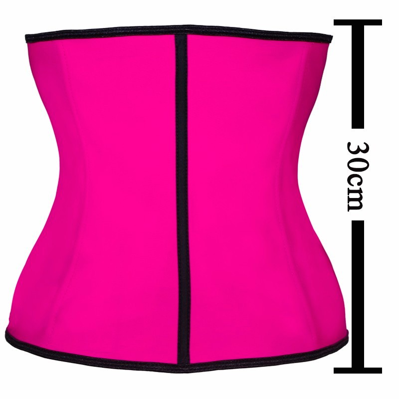Latex Waist Trainer Corset 9 Steel Bone Shapewear Body Shapers Women