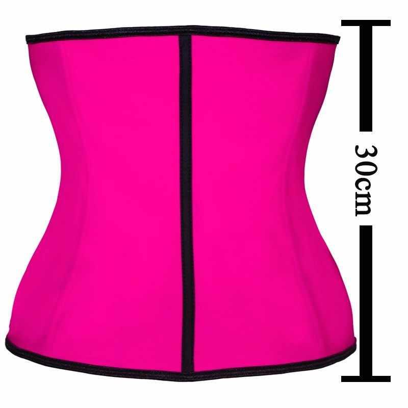 787af81152 ... 100% Latex Waist Trainer Corset 9 Steel Bone Shapewear Body Shapers  Women Corset Slimming Belt ...