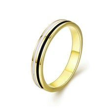 Golden Engagement Ring for Authentic 925 Sterling Silver Enamel Wide Finger Rings Fashion Jewelry Mens Gifts SCR523
