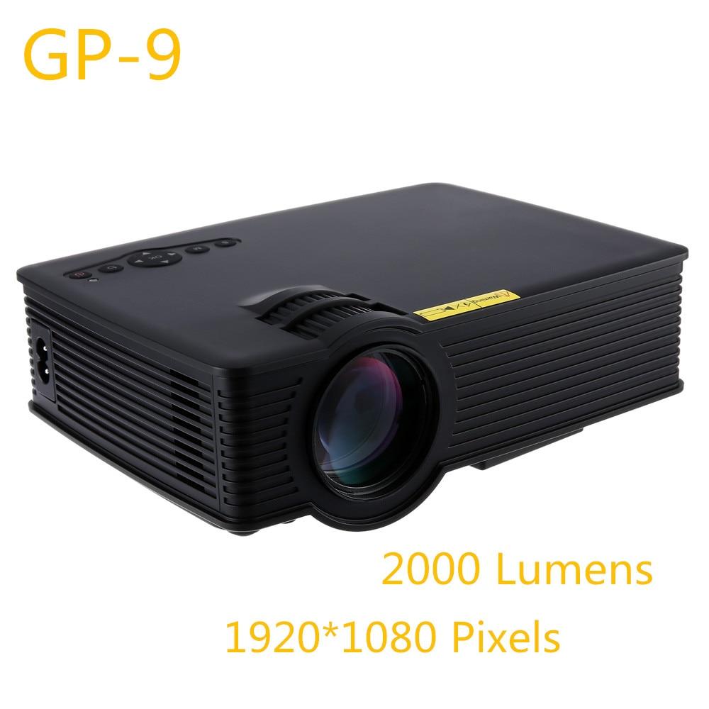 2000 Lumens Full Hd 1080p Led Lcd 3d Vga Hdmi Tv Home: GP9 GP 9 2000 Lumens LED Projetor Full HD 1080P Portable