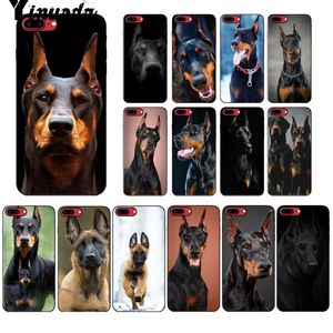 Yinuoda black Dachshund Doberman Dog TPU Soft Phone Case Cover for Apple iPhone 8 7 6 6S Plus X XS MAX 5 5S SE XR Mobile Cover(China)