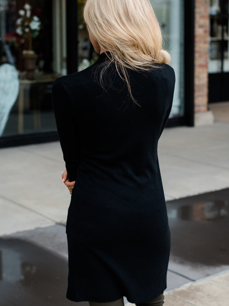 2019 Autumn Women Cardigan Sweater Black Fashion women 39 s long sleeve Clothing Female High Street cardigan Wear in Cardigans from Women 39 s Clothing