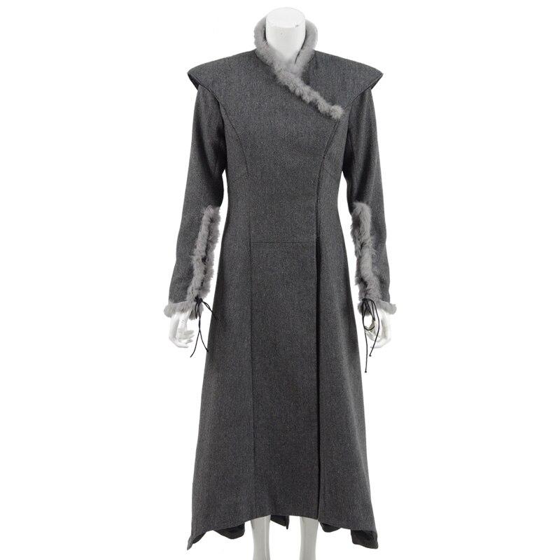 Daenerys Targaryen Cosplay Costume Women Winter Coat Overcoat Season7 Cosdaddy