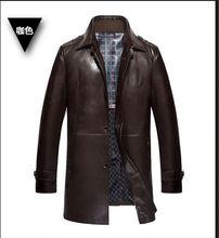 HOT 2016 brabds Leather-based Jackets Males Heat Windbreak Males Coats Winter Heat Jacket Males's Trend Luxurious Leather-based Mens Fur Coat EDA