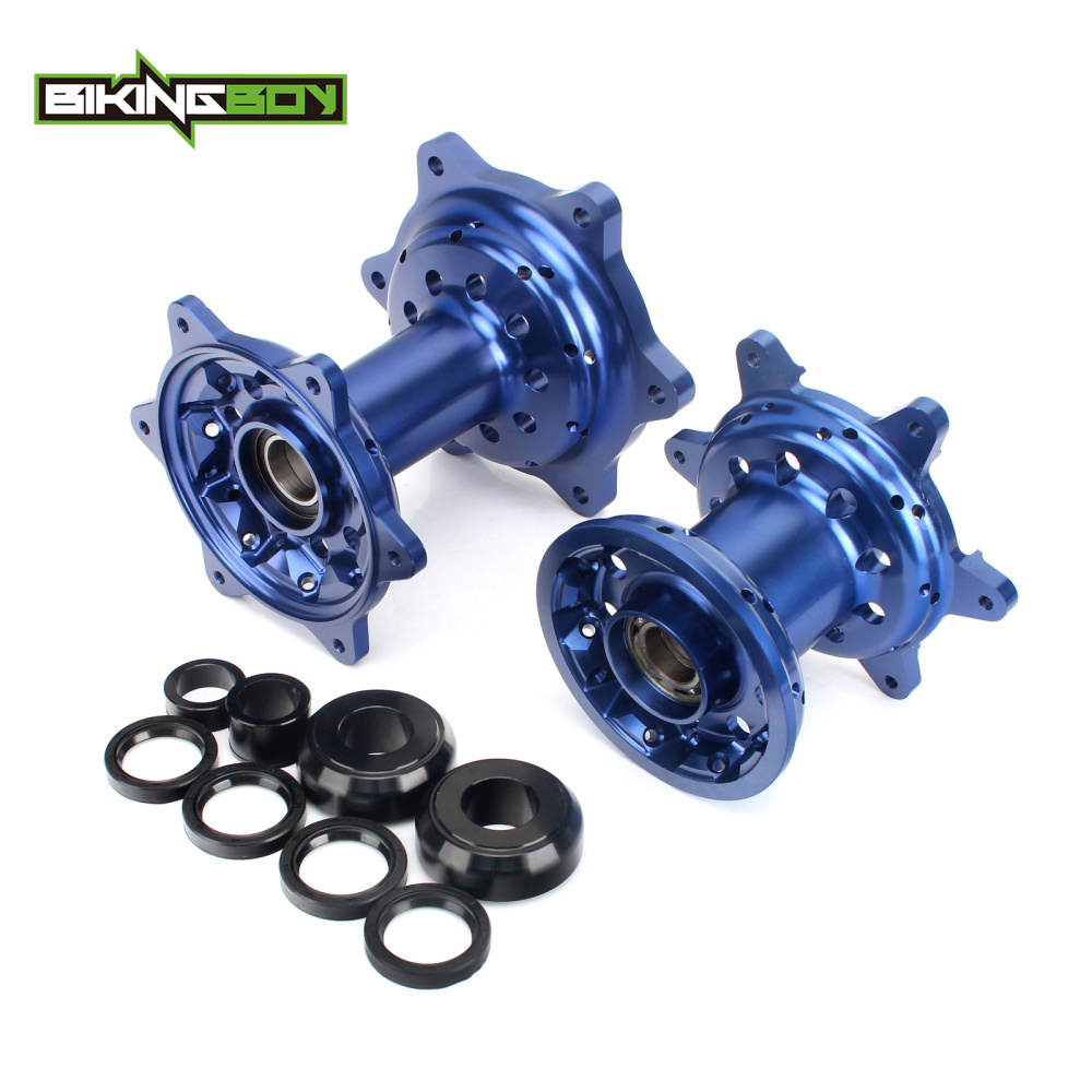 BIKINGBOY MX Full Set Front Rear Wheel Hubs 36 Holes With Axle Sleeve For YAMAHA YZ-F 250 450 YZ 250 450 F 2009 2010 2011 12 13