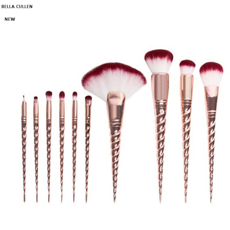 8pcs/10 Pcs Professional Makeup Brush Set Unicorn Rose Gold brushes Face Eye Kit