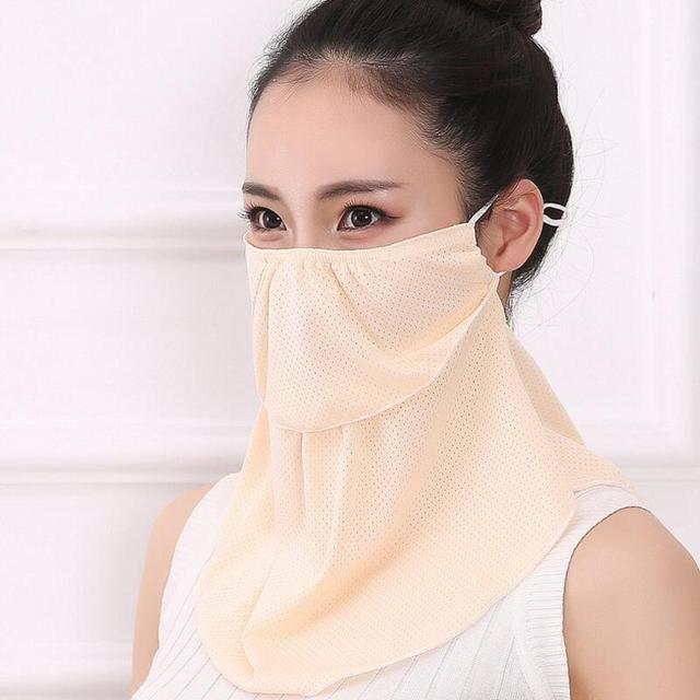 Summer Spring Breathable women neck protection face mask sun protective Shade anti-dust mask Mouth-muffle Mask Flu Face masks 4