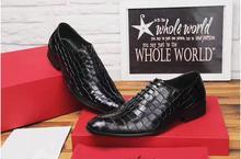 Sapatas de vestido dos homens de couro genuíno bico fino lace up sapatos derby de pedra padrão de xadrez clássico preto smart casual baixo hee sapatos