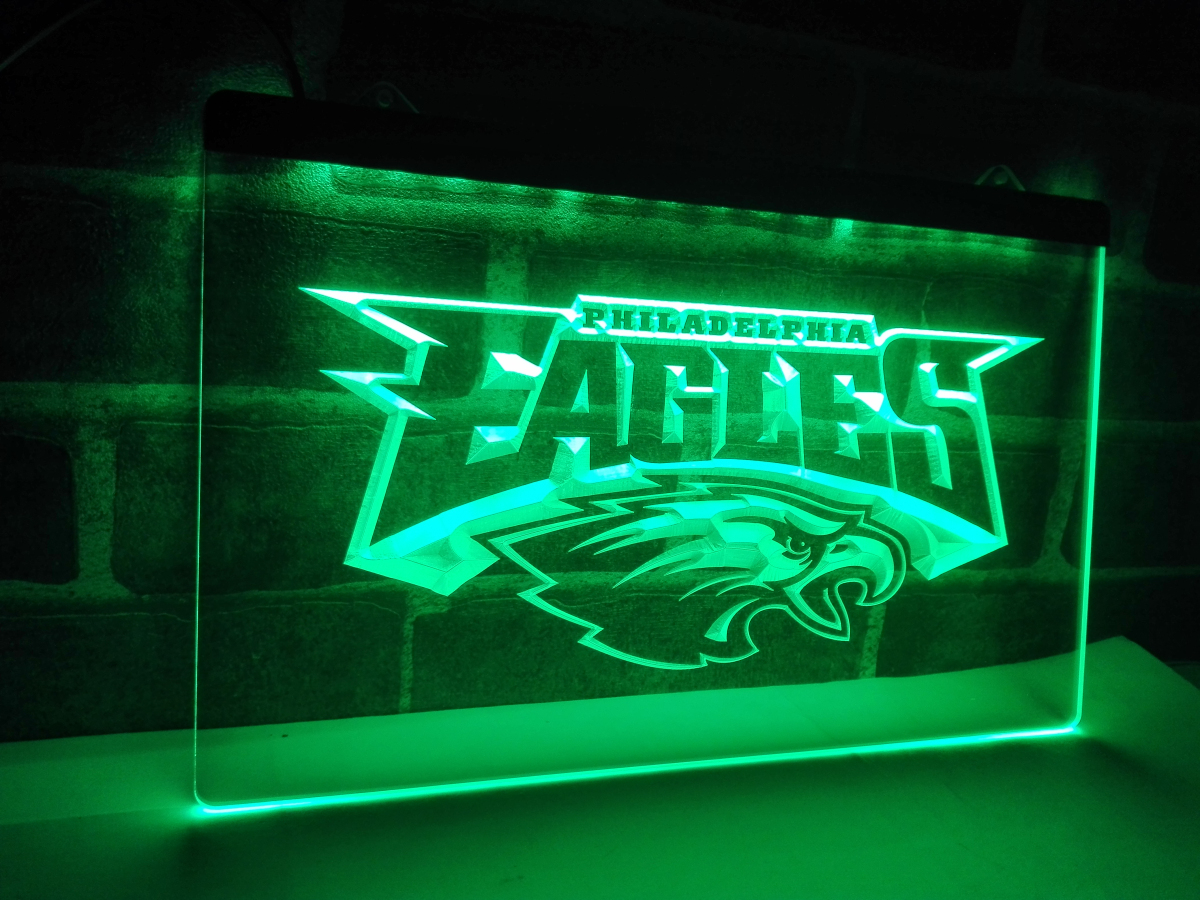 ld054 philadelphia eagles football led neon light sign. Black Bedroom Furniture Sets. Home Design Ideas