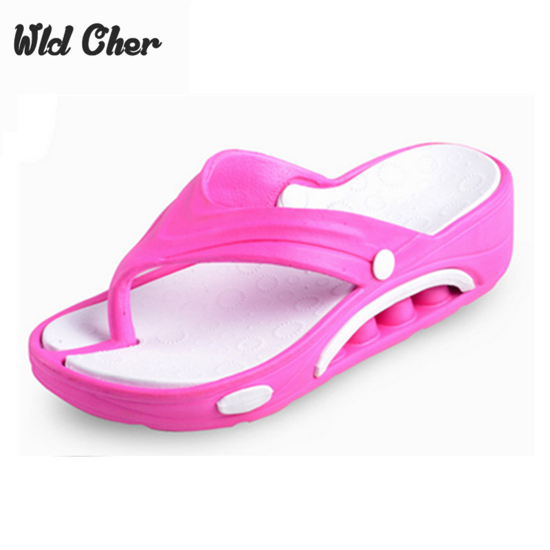 Women's Sandals Wedges Summer Beach Flip Flops Lady Slippers 2017 New Fashion Beach Casual Home Slipper Platform Flat Leisure 41