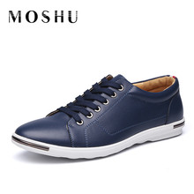 Men Flats Fashion Gentlemans Leather Shoes Casual Driving Sneakers Shoes Comfortable Flat Loafers Black Blue Plus Size 38-48