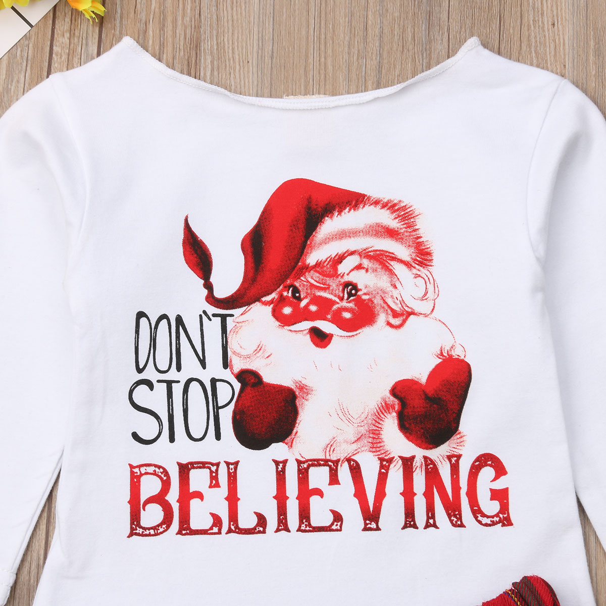 Newborn Kids Baby Girls Christmas Tops Long Sleeve T shirt Plaid Mini Skirts Outfits Clothes Set 2019 2019 in Clothing Sets from Mother Kids