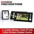 2.4 ГГц 7 ''Беспроводной Видео-Телефон Двери Аудио и Видео Домофон 2 Мониторы С CMOS Камеры/Беспроводные Видео-Домофон