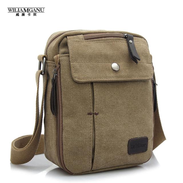 Wiliamganu lazer inclinado edição han dos homens e das mulheres pequeno saco de ombro da lona saco dos homens sacos de viagem multifuncional