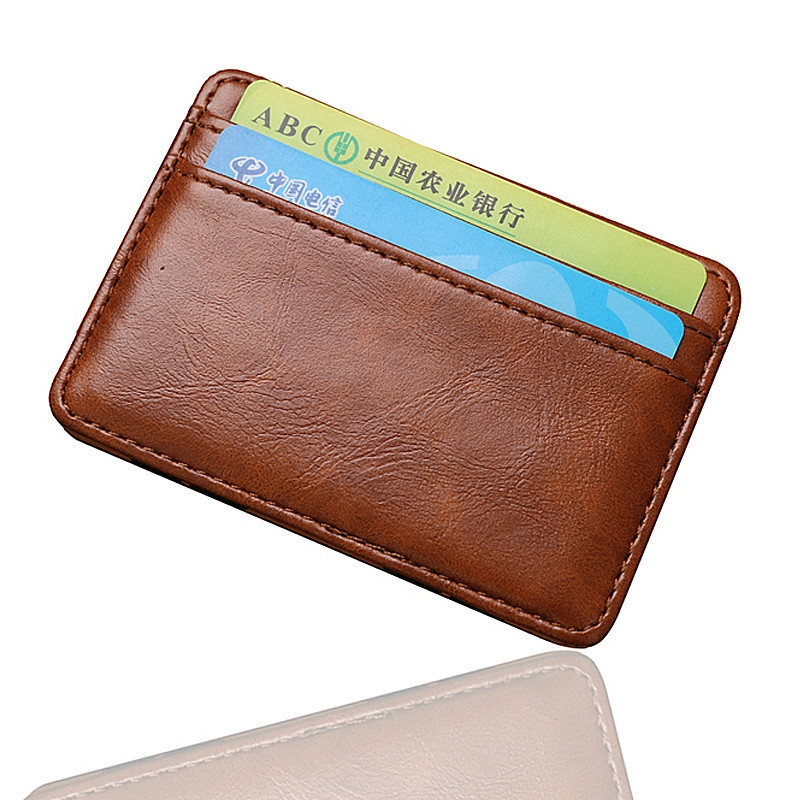 Fashion Vintage Style High quality Soft PU Leather Magic Men's Wallet Mini Multifunctional ID Card Holder Brand Magic Wallets wb 1215 casual style magic pu dollar wallet black green