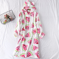 Night Dress Women Sleepwear Cute Lingerie Pijama Nightgown Winter Nighty Nightwear
