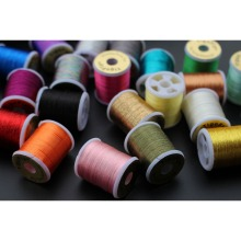 Tigofly 20 assorted colors Small Glitter Tinsel Thread 40 yards fishing fly tying tinsel line materials стоимость
