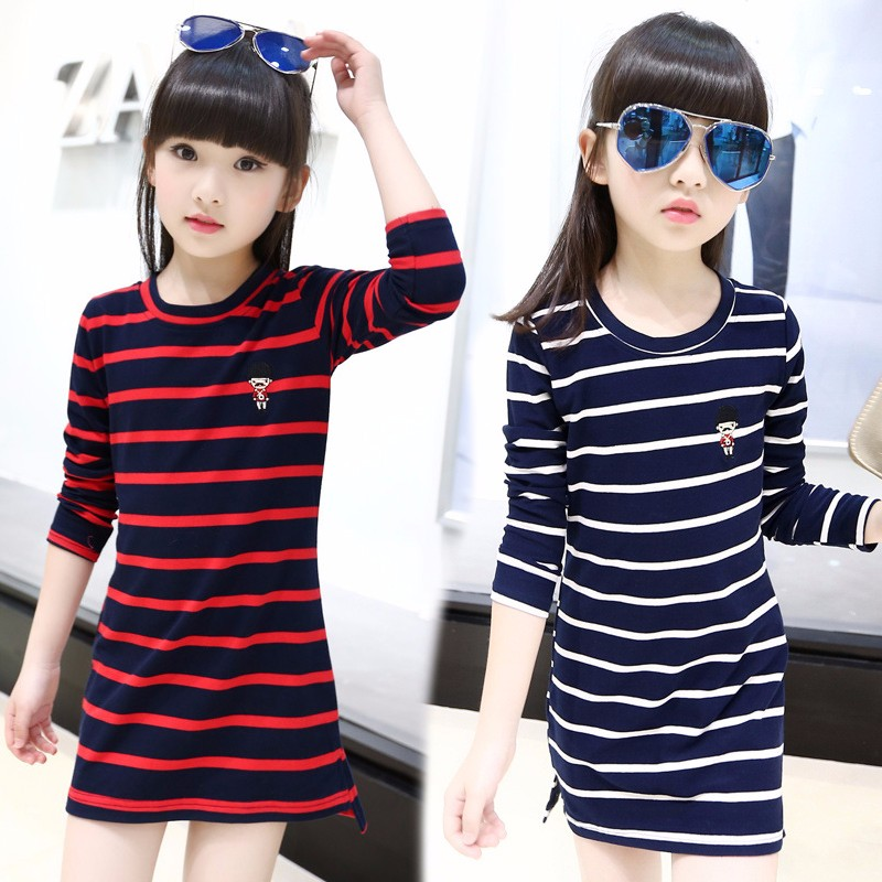 2PCS Kids Girls Long Sleeve Princess Tops Tunika Spring Outfits Clothes Age 2-8Y