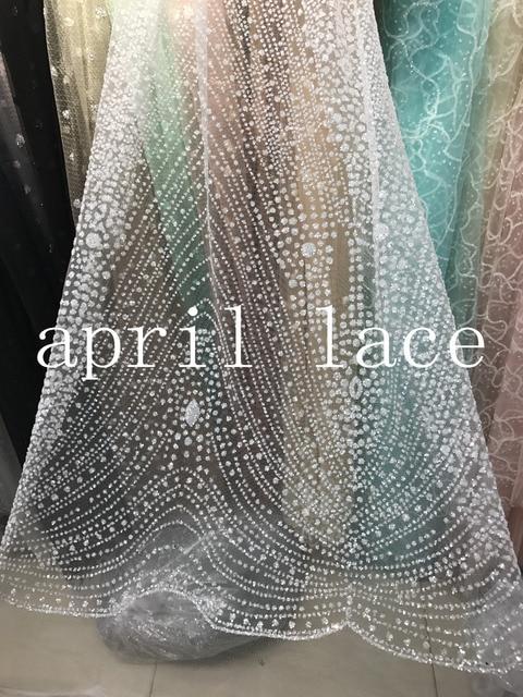 ap2009   5yards crystal color transparent glued glitter net tulle mesh  sugar lace for wedding  6bae57b42b6a