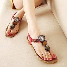 Woman 2016 New Summer Flat Sandals Ladies Summer Bohemia Beach Flip Flops Shoes Women Shoes Sandles Zapatos Mujer Sandalias Q1