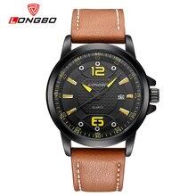 2016 Marca LONGBO Relojes hombres Casual reloj de Cuarzo reloj de pulsera de Cuero reloj hombre Militar Del Ejército reloj de los hombres relogio masculino