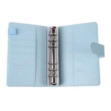 A6 из искусственной кожи Portafolios для бизнес руководителя Padfolio Archivador con anillas папка зажим для документов Держатель Ручка Петля