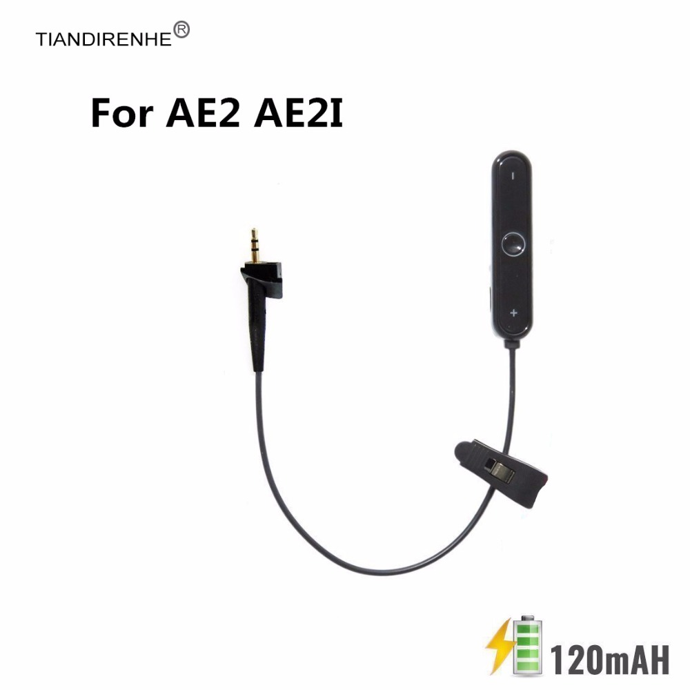 for Bose AE2 AE2i Bluetooth V4.1 Stereo Adapter Audio Transmitter Noise Cancellation Headphone Into Wireless replacement Cable dl link 3 5mm mini bluetooth audio transmitter a2dp stereo transmitter transmite dongle adapter for tv ipod mp3 mp4 pc