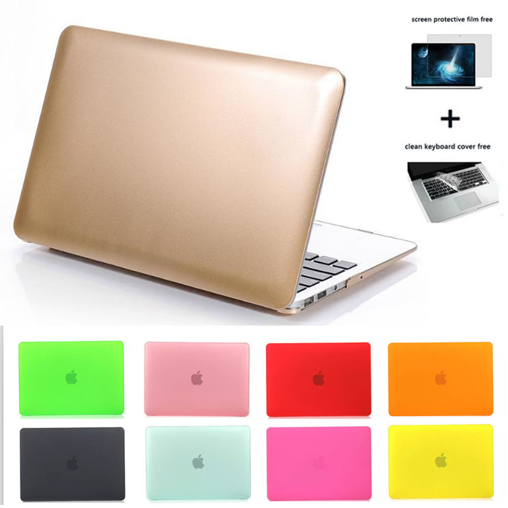 3in1 Frosted Matte Gold Laptop Case+two Gifts For Macbook