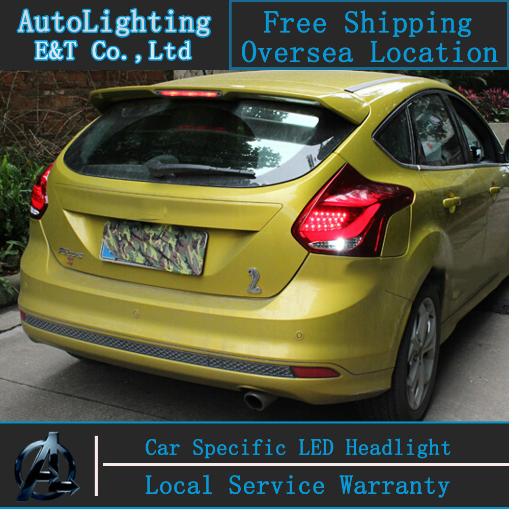 Auto Lighting Style LED Tail Lamp for Ford Focus Hatchback 2012 led tail lights drl rear trunk lamp cover signal+brake+reverse